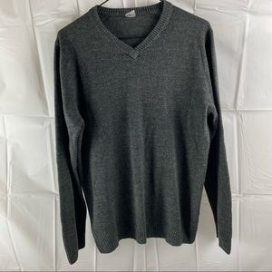 Grey Oversized Long Sleeve Sweater Top Size S